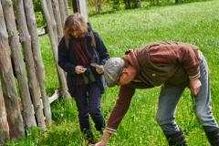 Bestandsaufnahme im Wald mit Matthias Schuh und Johanna Romberg
